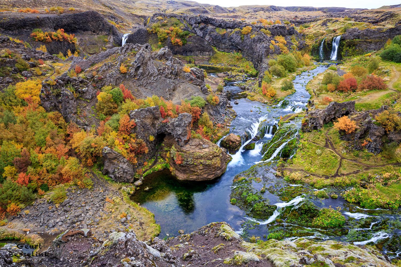 Waterval valei op Ijsland